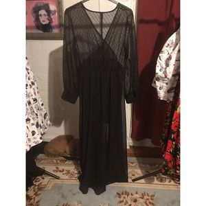 Dresses & Skirts - Semi sheer chiffon maxi dress